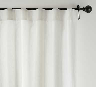 "Custom Classic Belgian Linen Curtain, 24 x 48"", Classic Ivory - Pottery Barn"