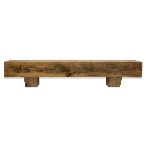 "Farmhouse Fireplace Mantel Shelf - Aged Oak Stain - 60"" - Wayfair"