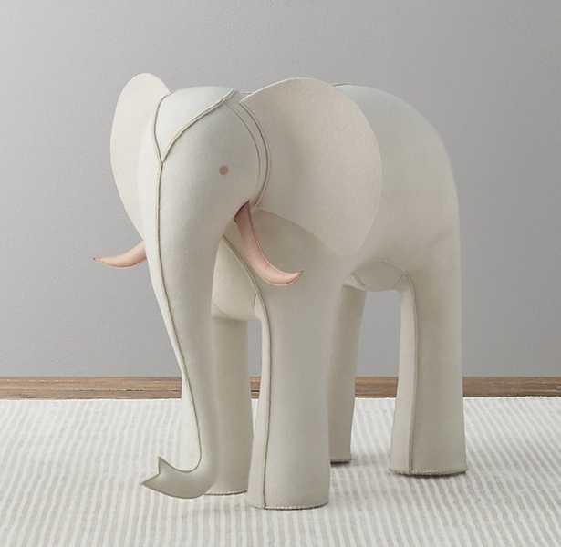 OVERSIZED WOOL FELT ELEPHANT - IVORY - RH Baby & Child