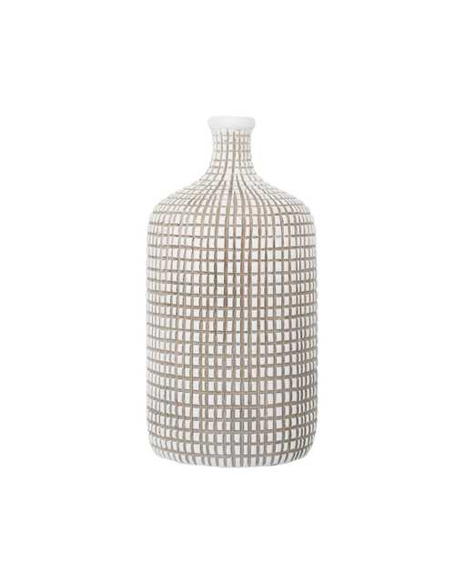 GRID BOTTLE VASE, SMALL - McGee & Co.