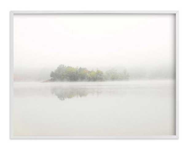 The Island - 40 x 30, white wood frame - Minted