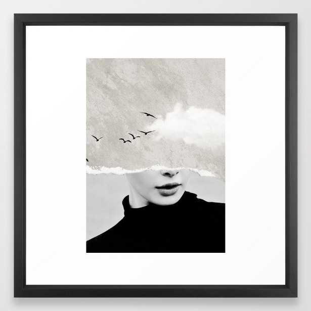 Minimal collage /silence Framed Art Print - Society6