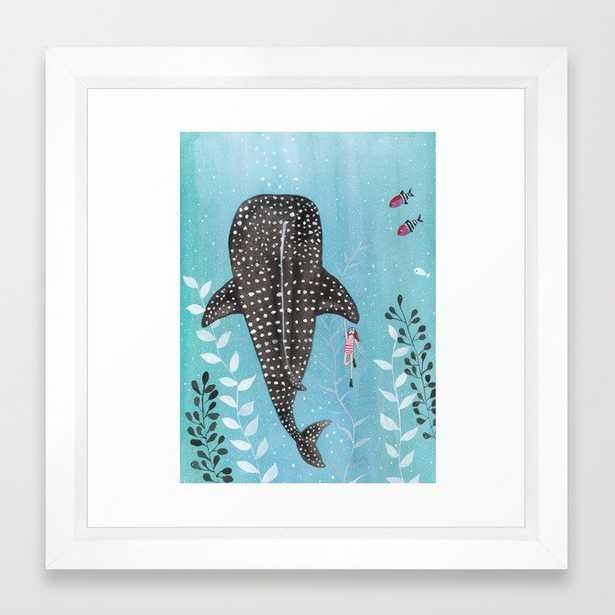 Whale shark! Framed Art Print - Society6