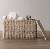 SEAGRASS CLOSED TOY BASKET ASH - RH Baby & Child
