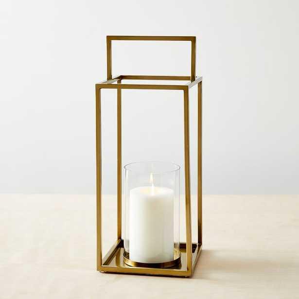 Framed Lanterns - Brass-Tall - West Elm