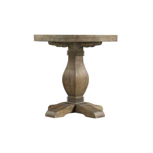 Casanovia Solid Wood Pedestal End Table - Wayfair