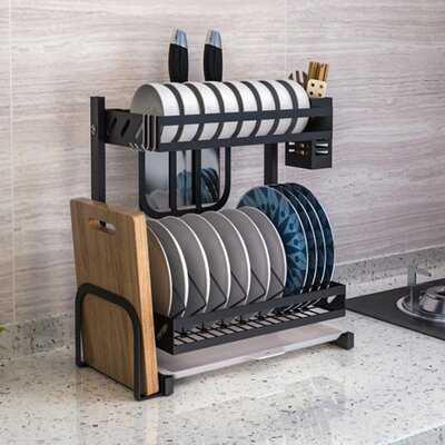 Stainless Steel 2 Tier Dish Rack - Wayfair