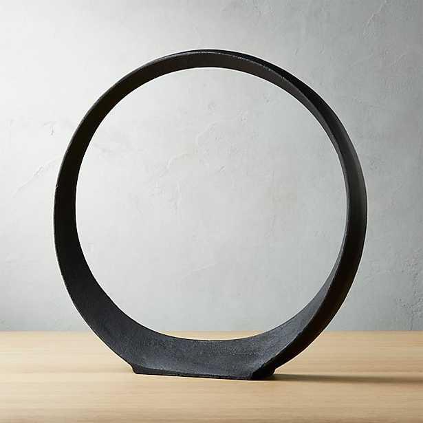 Large Metal Ring Sculpture - 17 h - CB2