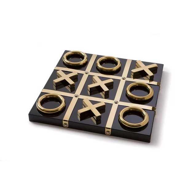 TIC TAC TOE - BLACK/GOLD - Perigold