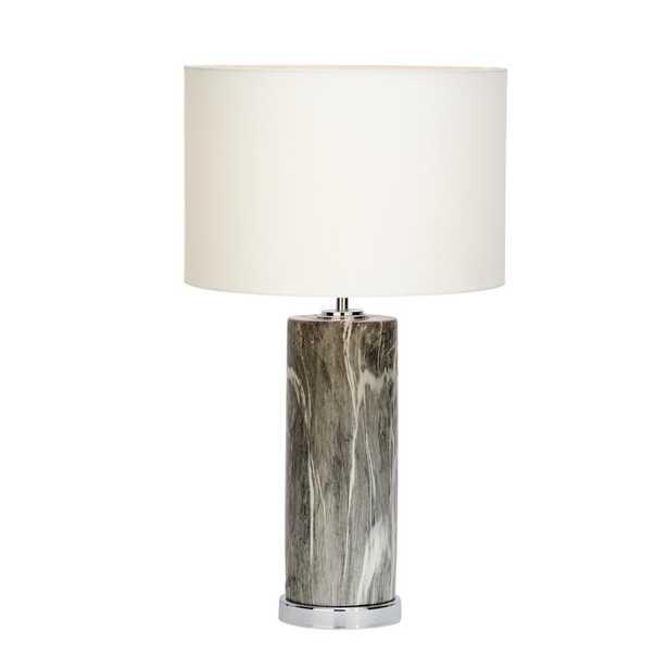 "26"" Table Lamp - Black/Silver - Wayfair"