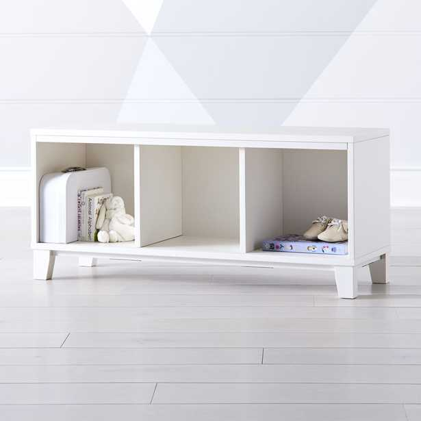 District 3-Cube Storage Frame (White) - Crate and Barrel
