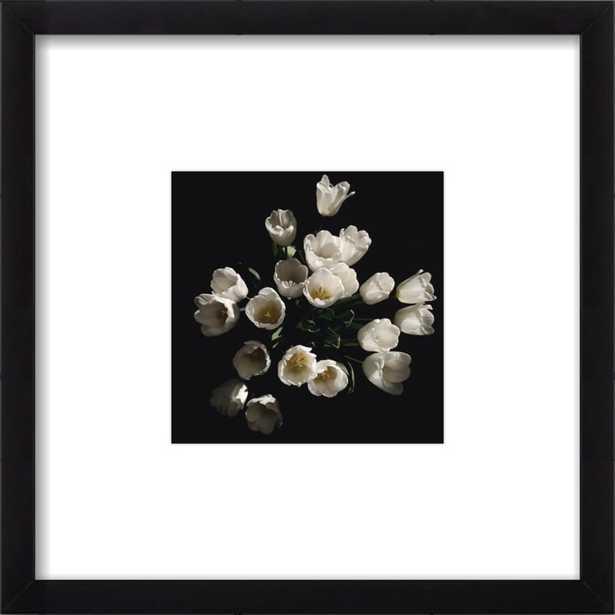 Floral 4 - 8x8 black wood frame and mat - Artfully Walls