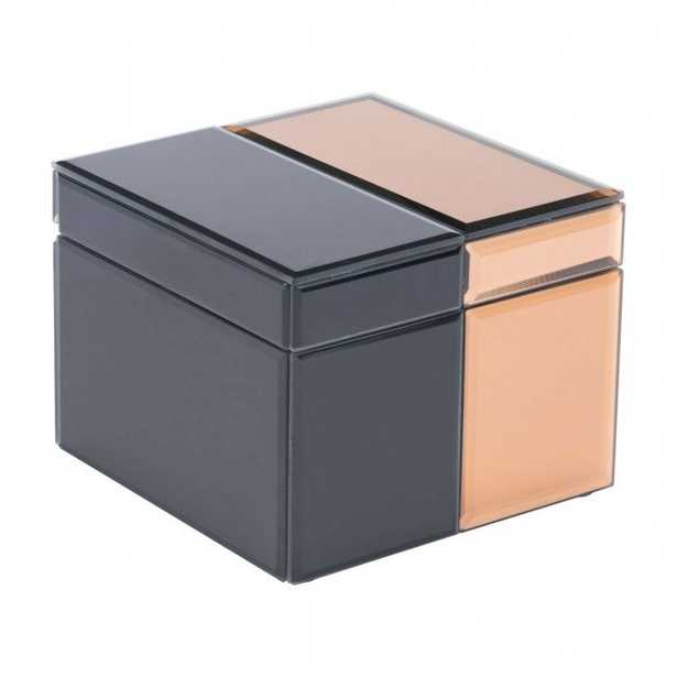 Bicolor Lg Box Black & Bronze - Zuri Studios