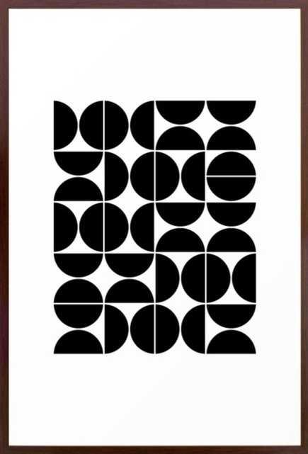 Mid Century Modern Geometric 04 Black Framed Art Print - Society6