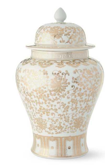 White and Gold Large Ginger Jar - Williams Sonoma