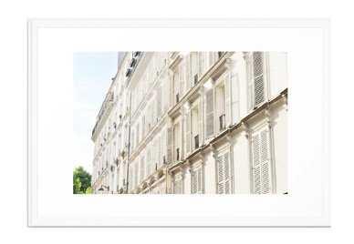 "Grande facade de Paris Framed Art Print Scoop White Large Gallery 26"" x 38"" - Society6"
