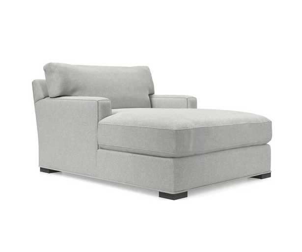 Axis II Chaise Lounge - Douglas Lace, Pecan leg - Crate and Barrel
