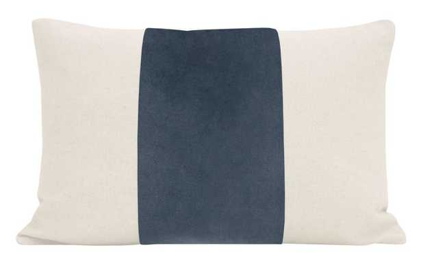 """The Little Lumbar :: PANEL Signature Velvet //Prussian Blue - 12"""" X 18"""" (Insert Not Included, Cover Only) - Little Design Company"""
