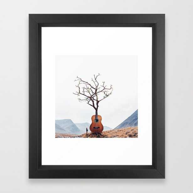 Guitar Tree Framed Art Print - Society6