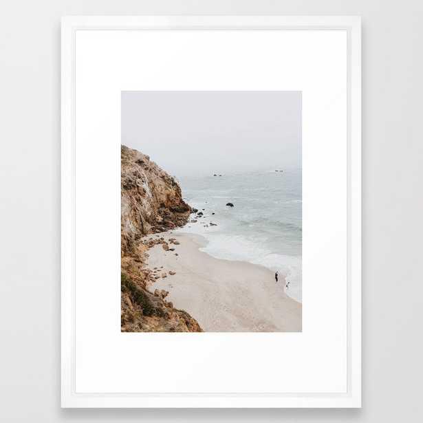 "malibu coast / california Framed Art Print, 20"" x 26"" - Society6"