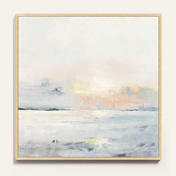 "PASTEL SUNSET FRAMED CANVAS / 30"" x 30"" - Ballard Designs"