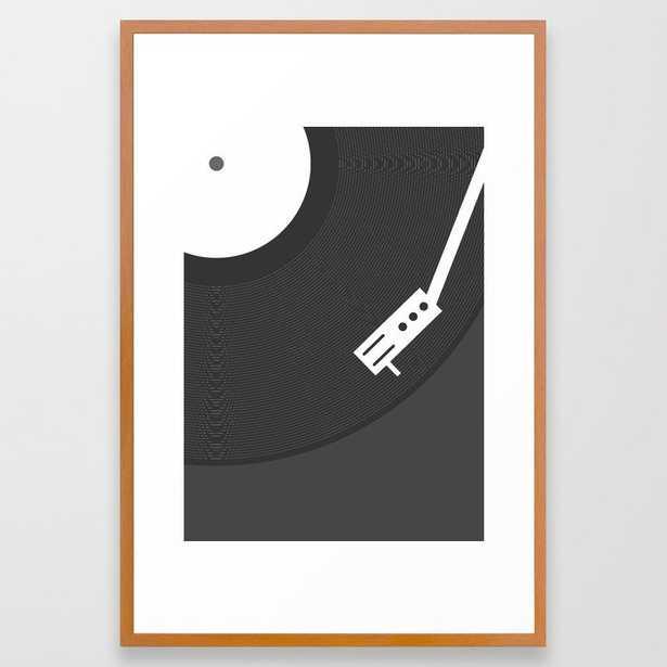 Vinyl Record Framed Art Print - Society6