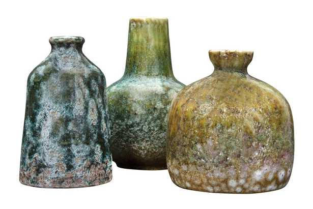 Kelch Textured Stoneware 3 Piece Table Vase Set - Wayfair