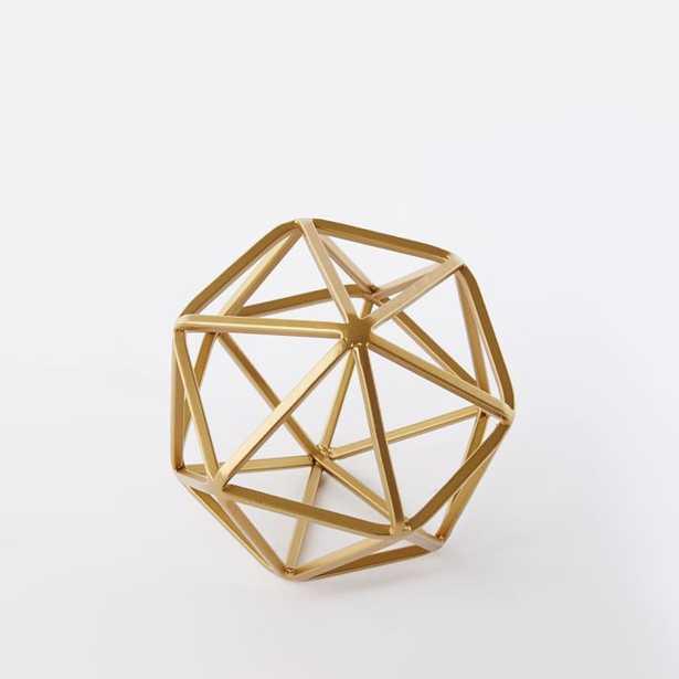 Symmetry Object, Small Octahedron, Gold - West Elm