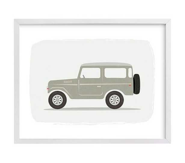 Vintage Land Cruiser, Wall Art by Minted(R), 16x20, White - Pottery Barn Kids