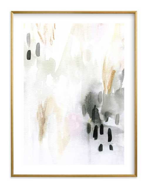 """ever softly framed art print- Size 18"""" X 24""""- Gilded Wood Frame- Charcoal- Standard Plexi & Materials- White Border - Minted"""