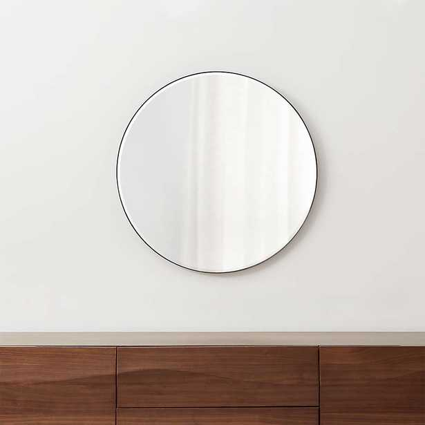 """Edge Black Round 30"""" Wall Mirror - Crate and Barrel"""