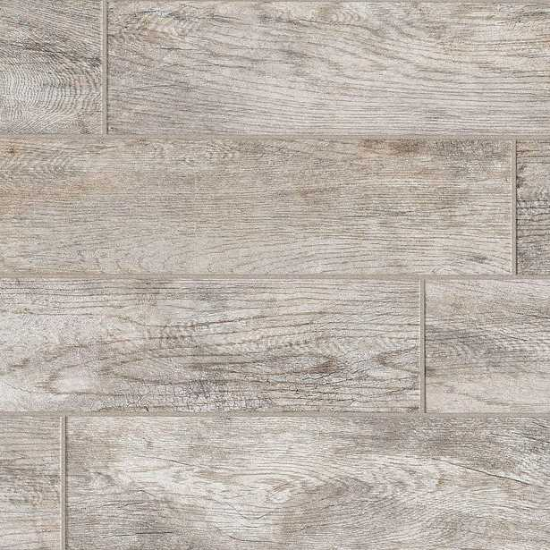 MARAZZI Montagna Dapple Gray 6 in. x 24 in. Porcelain Floor and Wall Tile (14.53 sq. ft. / Case) - Home Depot