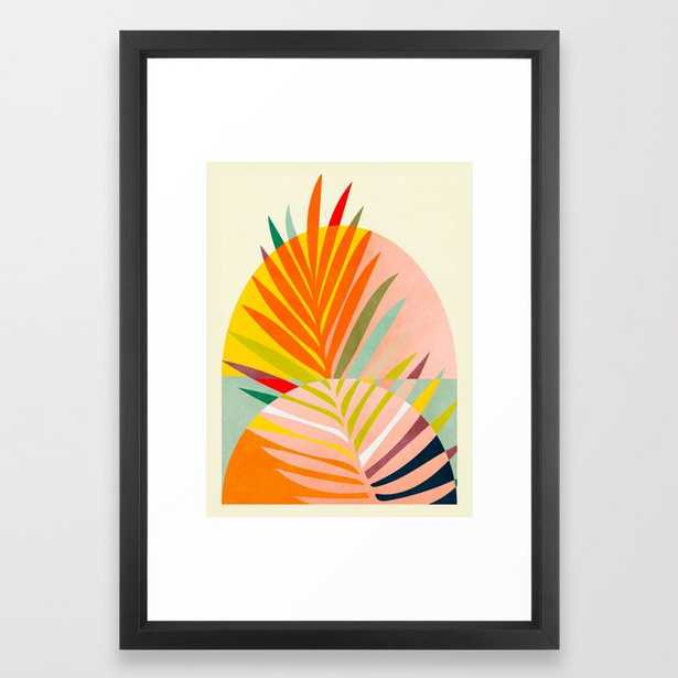 minimal leave tropical spring Framed Art Print - Society6