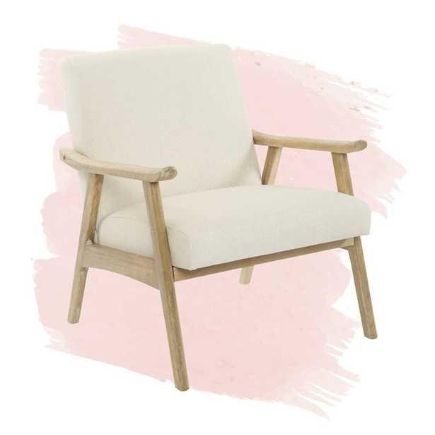 Kayla Lounge Chair -  Linen - Wayfair