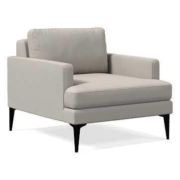 Andes Chair, Basket Slub, Feather Gray, Dark Pewter - West Elm