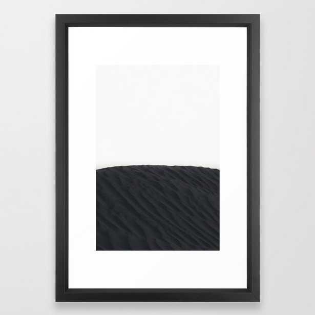 """Framed Art Print - Black Sand Dunes - Vector Black - 15"""" X 21"""" - Society6"""