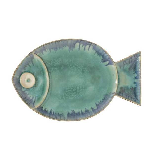 Blue Fish Plate Wall Décor - Large - Perigold