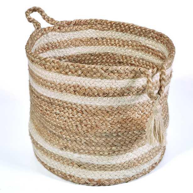 Natural Jute Decorative Storage Basket, Brown - Home Depot