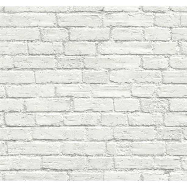 Vintage White Brick Peel and Stick Wallpaper - Home Depot