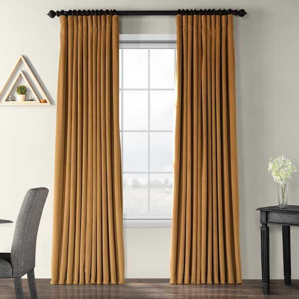 Rhinehart Velvet Solid Blackout Thermal Rod Pocket Single Curtain Panel - Wayfair