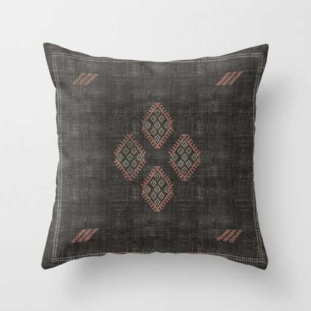 Kilim in Black and Pink Throw Pillow - Society6