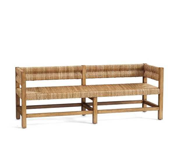 Malibu Woven Bench, Honey - Pottery Barn