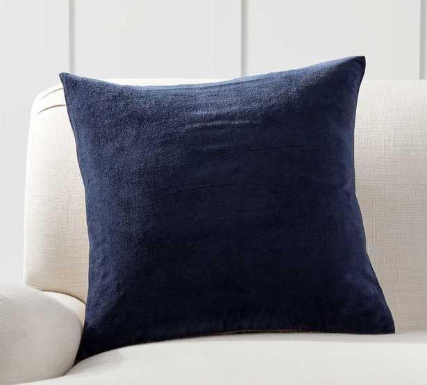 """Velvet Linen Pillow Cover, 20 x 20"""", Twilight - Pottery Barn"""