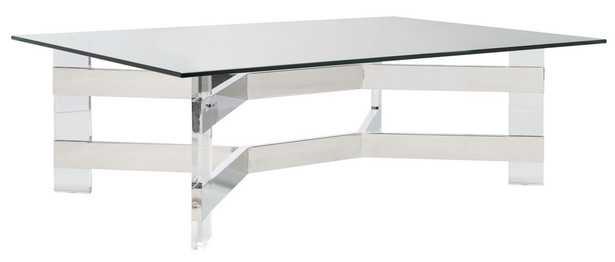 Eugene Acrylic Coffee Table - Silver/Clear - Arlo Home - Arlo Home