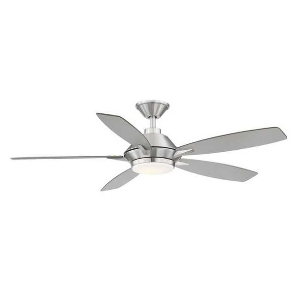 Wilmington 52 in. LED Brushed Nickel Ceiling Fan with Light - Home Depot
