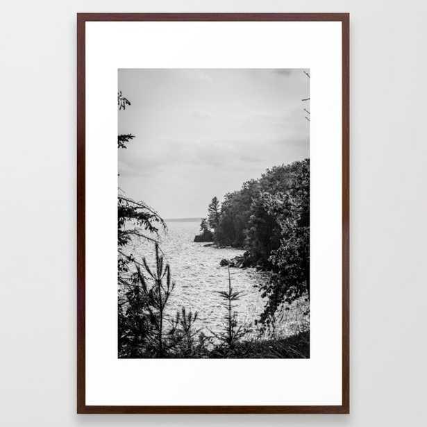 Madeline Island coast Framed Art Print - Society6
