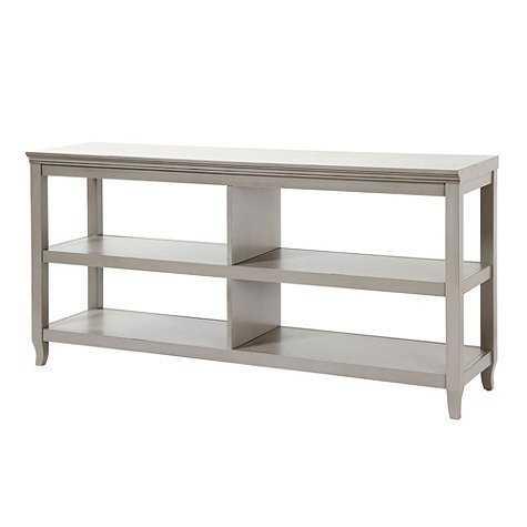Morgan Double Wide Low Shelf - Gray - Ballard Designs