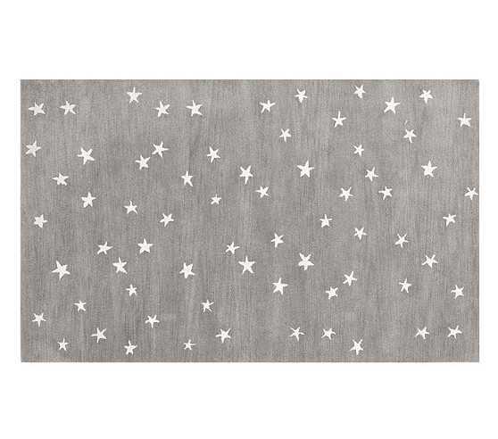 Starry Skies Rug, 7x10', Gray - Pottery Barn Kids