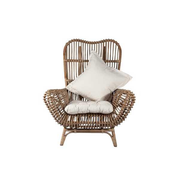 Round Back Rattan Chair - Wayfair