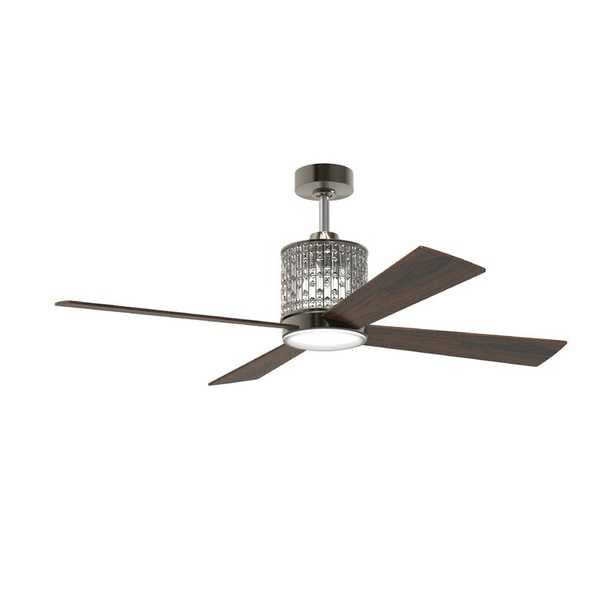 """52"""" Bodella 4 Blade Ceiling Fan with Remote, Light Kit Included - Wayfair"""